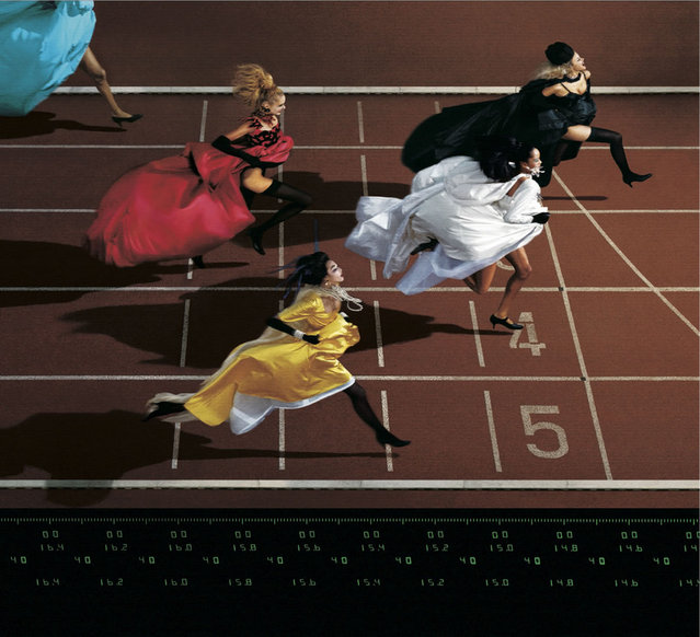 1996 Visa d'or Feature: Jean-Paul Goude. Fashion and Sport: Running, for Elle. (Photo by Jean-Paul Goude)