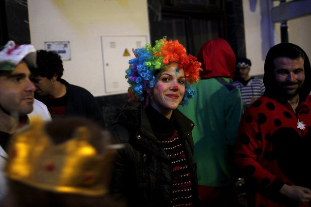 Revellers take part in New Year celebrations in Coin, near Malaga, southern Spain, January 1, 2016. (Photo by Jon Nazca/Reuters)