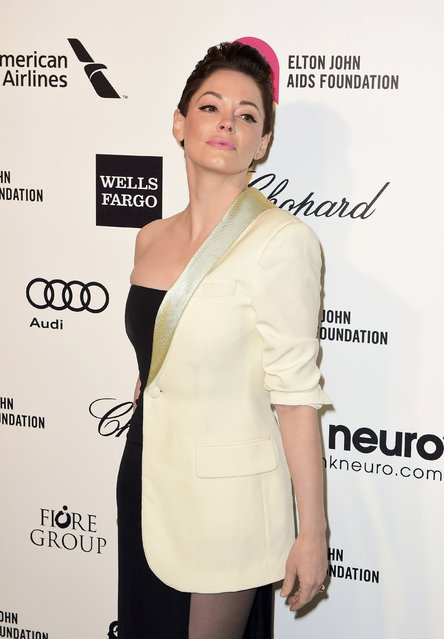 Actress Rose McGowan arrives at the 2015 Elton John AIDS Foundation Oscar Party in West Hollywood, California February 22, 2015. (Photo by Gus Ruelas/Reuters)