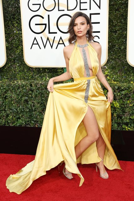 Actress/model Emily Ratajkowski attends the 74th Annual Golden Globe Awards at The Beverly Hilton Hotel on January 8, 2017 in Beverly Hills, California. (Photo by Rex Features/Shutterstock)