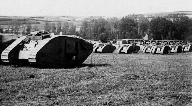 The British used some 476 tanks to smash through German lines in the 1917 Battle of Cambrai. (Photo by Anthony Tucker-Jones/Mediadrumworld.com)