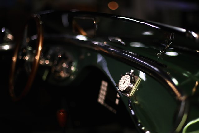 "A detailed view of the stop watch on the passanger dashboard on a Austin Healey 100M during the The 40th Antwerp Classic Salon run by SIHA Salons Automobiles and held at Antwerp EXPO Halls on March 3, 2017 in Antwerpen, Belgium. 350 exhibitors and participants from Belgium, Denmark, Germany, France, Italy, Luxembourg, the Netherlands, New Zealand, Norway, Austria, the USA, Great Britain, Sweden and Switzerland will be showing classic cars, engines, restoration equipment and supplies, new and used accessories, interiors, maintenance materials, literature, models, objects of art with the theme ""classic cars"" plus club stands and museums. (Photo by Dean Mouhtaropoulos/Getty Images)"