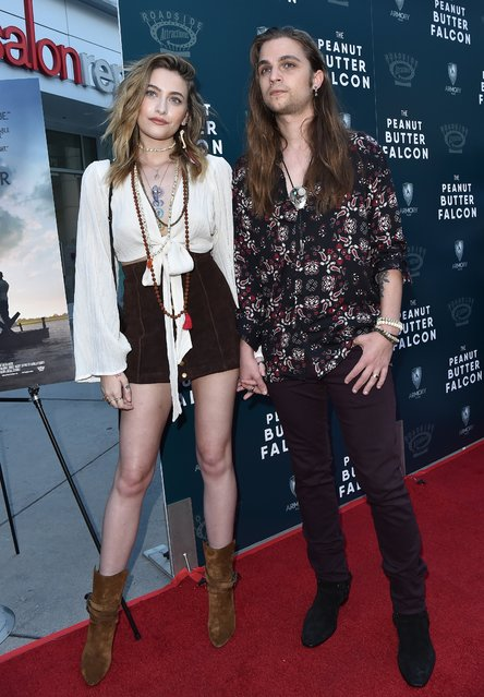 "Paris Jackson and Gabriel Glenn attend the LA Special Screening of Roadside Attractions' ""The Peanut Butter Falcon"" at ArcLight Hollywood on August 01, 2019 in Hollywood, California. (Photo by Axelle/Bauer-Griffin/FilmMagic)"