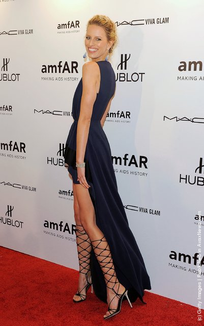 Karolina Kurkova attends the amfAR New York Gala To Kick Off Fall 2012 Fashion Week at Cipriani Wall Street