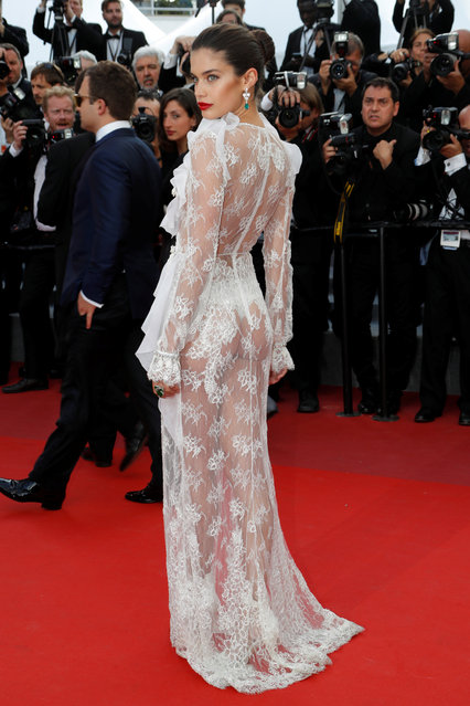 """Model Sara Sampaio attends """"The Killing Of A Sacred Deer"""" screening during the 70th annual Cannes Film Festival at Palais des Festivals on May 22, 2017 in Cannes, France. (Photo by Eric Gaillard/Reuters)"""