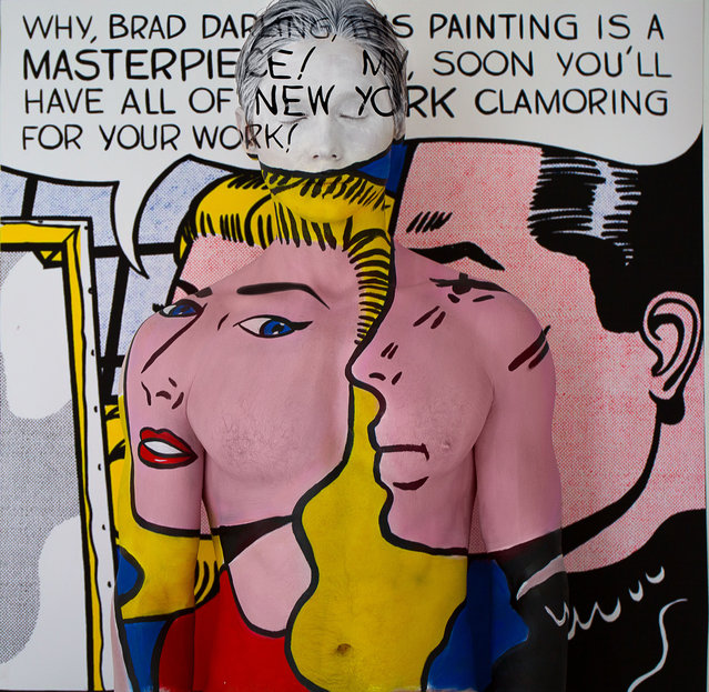 Titled 50,000,000 after Masterpiece by Roy Lichtenstein. (Photo by Trina Merry/Caters News)