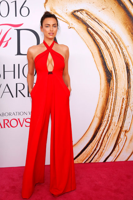 Model Irina Shayk arrives for the 2016 CFDA Fashion Awards in Manhattan, New York, U.S., June 6, 2016. (Photo by Andrew Kelly/Reuters)
