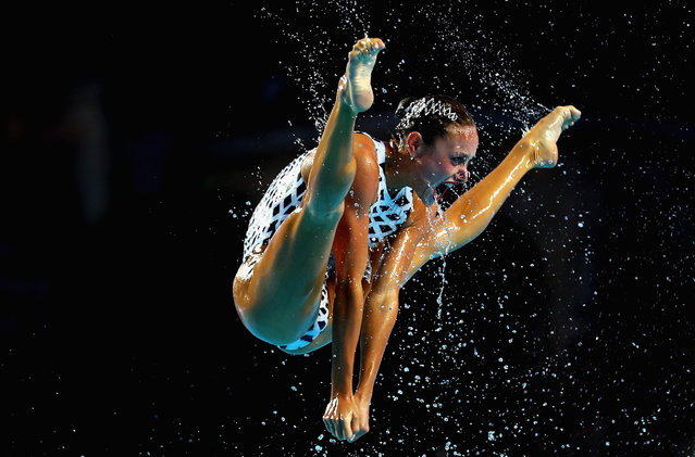 Ukraine compete during the Synchronised Swimming Team Free, preliminary round on day six of the Budapest 2017 FINA World Championships on July 19, 2017 in Budapest, Hungary. (Photo by Clive Rose/Getty Images)