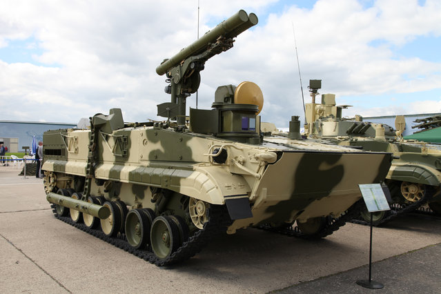 9P157-2 combat vehicle from Khrizantema-S antitank missile system