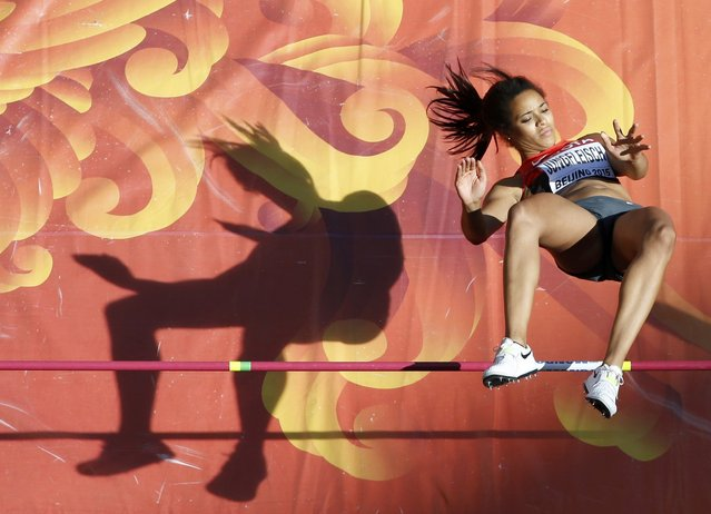 Marie-Laurence Jungfleisch of Germany competes in the women's high jump qualifying round during the 15th IAAF World Championships at the National Stadium in Beijing, China, August 27, 2015. (Photo by Kim Kyung-Hoon/Reuters)