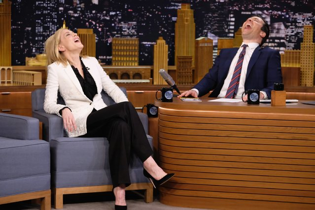 "Cate Blanchett Visits ""The Tonight Show Starring Jimmy Fallon"" at Rockefeller Center on January 23, 2017 in New York City. (Photo by Theo Wargo/Getty Images for NBC)"
