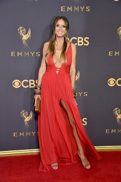 TV personality/model Heidi Klum attends the 69th Annual Primetime Emmy Awards at Microsoft Theater on September 17, 2017 in Los Angeles, California. (Photo by Jeff Kravitz/FilmMagic)