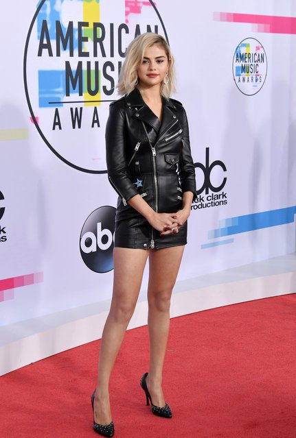 Selena Gomez attends the 2017 American Music Awards at Microsoft Theater on November 19, 2017 in Los Angeles, California. (Photo by Neilson Barnard/Getty Images)