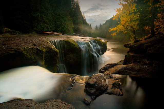 Washington State, United States, 2009. Sunset falls on Gifford Pinchot National Forest, named for the founder of the U.S. Forest Service and National Geographic Society board member. (Photo by Scottyboipdx Weber/National Geographic My Shot