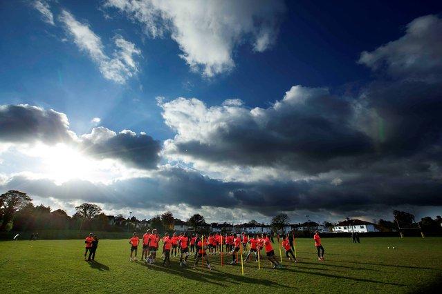 South Africa Springboks Squad Training, Blackrock College RFC, Blackrock, Co. Dublin, on November 4, 2014. (Photo by Billy Stickland/INPHO)