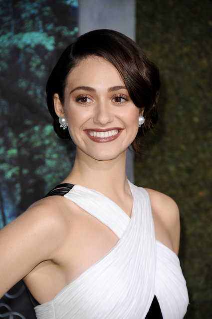 """Actress Emmy Rossum arrives at the Los Angeles premiere of """"Beautiful Creatures"""" at TCL Chinese Theatre on February 6, 2013 in Hollywood, California. (Photo by Gregg DeGuire/WireImage)"""