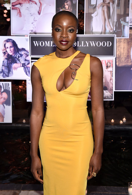 Danai Gurira attends Vanity Fair and Lancome Paris Toast Women in Hollywood, hosted by Radhika Jones and Ava DuVernay, on March 1, 2018 in West Hollywood, California. (Photo by John Shearer/Getty Images for Vanity Fair)