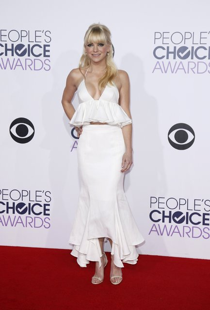 Actress and show host Anna Faris arrives at the 2015 People's Choice Awards in Los Angeles, California January 7, 2015. (Photo by Danny Moloshok/Reuters)