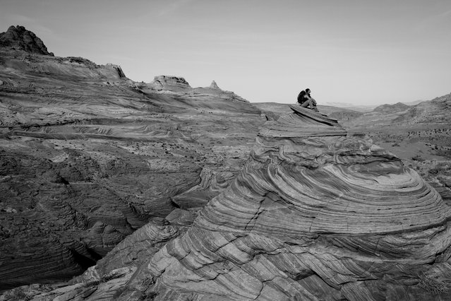 """Great place to contemplate"". While hiking, my boyfriend and I found the best place to just sit and take in the beauty of our surroundings. Location: Coyote Buttes, Arizona, United States. (Photo and caption by Samantha Schwann/National Geographic Traveler Photo Contest)"