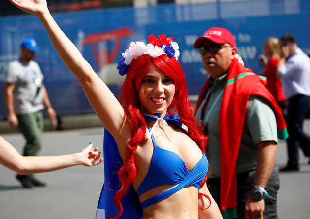 France fan before the Russia 2018 World Cup Group C football match between Denmark and France at the Luzhniki Stadium in Moscow on June 26, 2018. (Photo by Axel Schmidt/Reuters)