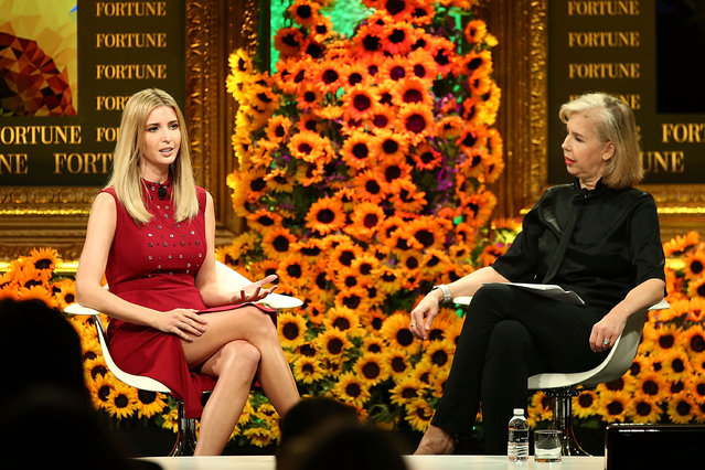 Ivanka Trump and Nancy Gibbs speak onstage at the Fortune Most Powerful Women Summit 2016 at Ritz-Carlton Laguna Niguel on October 19, 2016 in Dana Point, California. (Photo by Joe Scarnici/Getty Images for Fortune)