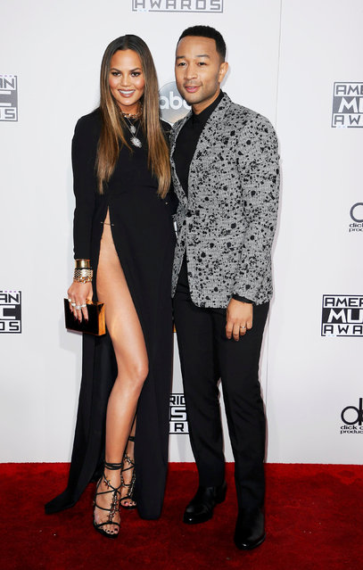 Musician John Legend and model Chrissy Teigen arrive at the 2016 American Music Awards in Los Angeles, California, U.S., November 20, 2016. (Photo by Danny Moloshok/Reuters)