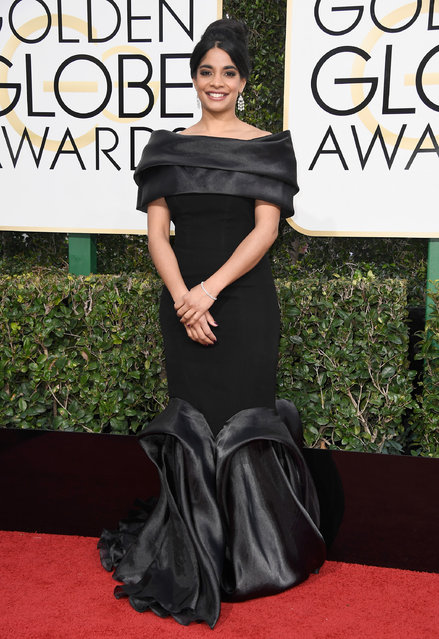 Actress Amara Karan attends the 74th Annual Golden Globe Awards at The Beverly Hilton Hotel on January 8, 2017 in Beverly Hills, California. (Photo by Frazer Harrison/Getty Images)