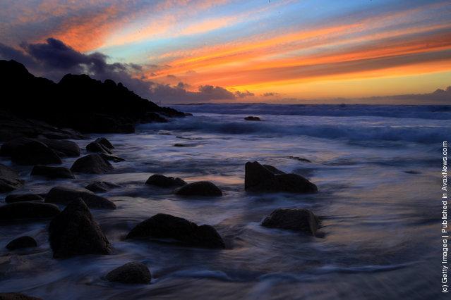 Beautiful Sunset in Cornwall