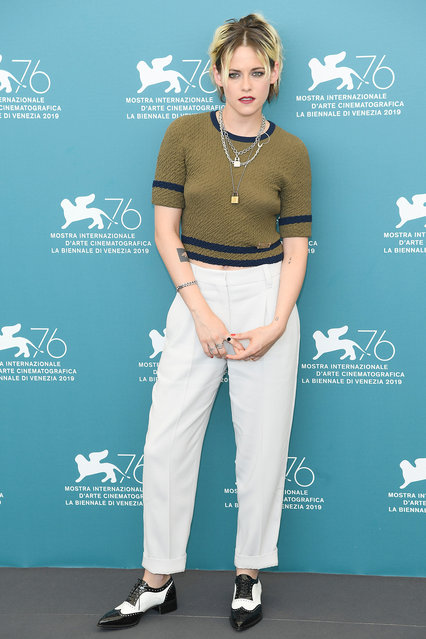 "Kristen Stewart attends ""Seberg"" photocall during the 76th Venice Film Festival at Sala Grande on August 30, 2019 in Venice, Italy. (Photo by Pascal Le Segretain/Getty Images)"