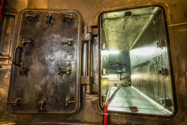 A view of an entrance to the concrete case surrounding the pressure vessel of the reactor is seen inside the decommissioned Unit Six of the Greifswald nuclear power station outside Lubmin August 5, 2014. (Photo by Thomas Peter/Reuters)