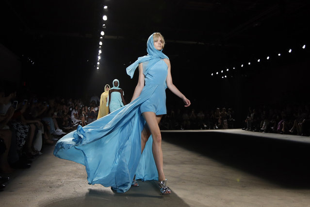 The Christian Siriano Spring 2016 collection is modeled during Fashion Week, Saturday, September 12, 2015, in New York. (Photo by Jason DeCrow/AP Photo)