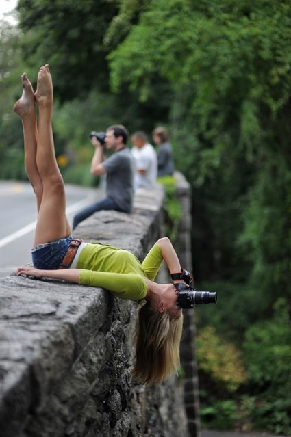 """""""Dancers Among Us"""": Ft Tryon Park, NYC – Adrienne Hayes. (Photo by Jordan Matter)"""