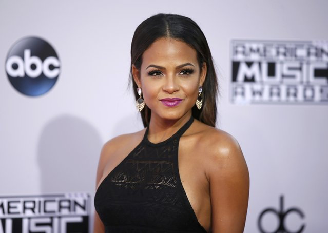 Actress Christina Milian arrives at the 42nd American Music Awards in Los Angeles, California November 23, 2014. (Photo by Danny Moloshok/Reuters)
