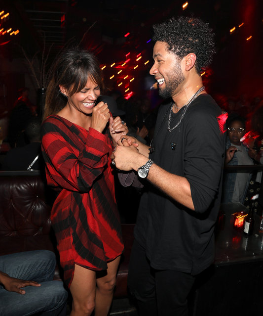"""Halle Berry and Jussie Smollett attend Jussie Smollett's Release Party For His Debut Album """"Sum Of My Music"""" at The Sayers Club on March 1, 2018 in Hollywood, California. (Photo by Jerritt Clark/Getty Images)"""