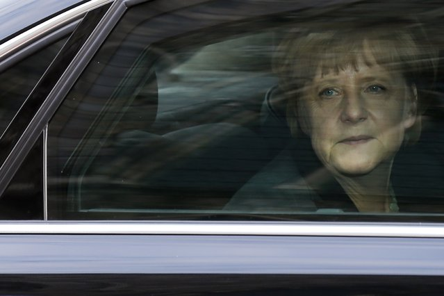 Germany's Chancellor Angela Merkel arrives to commemorate the centenary of the start of World War I, in Ypres, in this June 26, 2014 file photo. (Photo by Pascal Rossignol/Reuters)