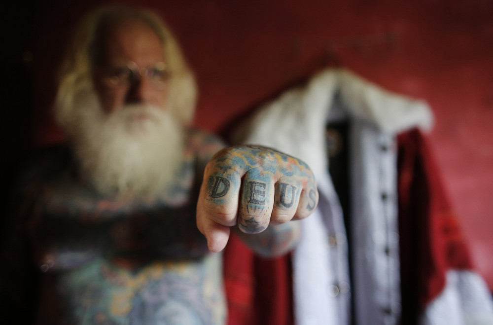 Tattooed Santa