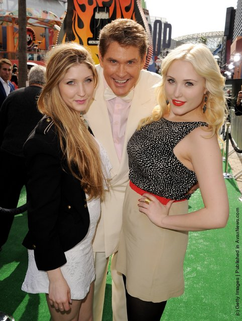 David Hasselhoff and his daughters Taylor Ann Hasselhoff and Hayley Hasselhoff