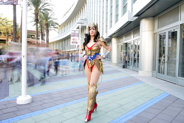 A costumed guest attends WonderCon Anaheim 2015 at Anaheim Convention Center on April 4, 2015 in Anaheim, California. (Photo by Araya Diaz/WireImage)