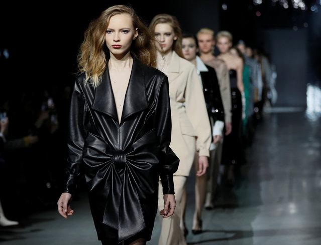 Models present creations by Ukrainian designer Oksana Ostrovska during Ukrainian Fashion Week in Kiev, Ukraine, February 4, 2019. (Photo by Valentyn Ogirenko/Reuters)