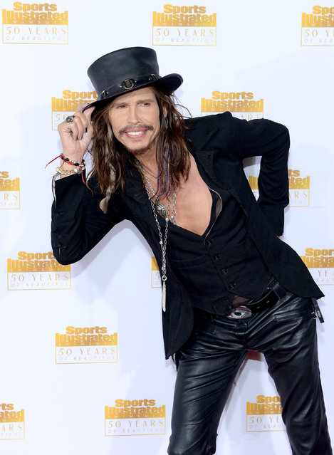 Musician Steven Tyler of Aerosmith attends NBC and Time Inc. celebrate the 50th anniversary of the Sports Illustrated Swimsuit Issue at Dolby Theatre on January 14, 2014 in Hollywood, California. (Photo by Dimitrios Kambouris/Getty Images)
