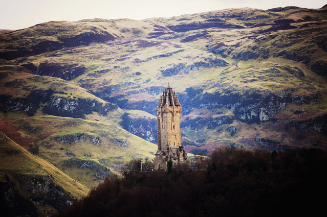 The Wallace monument stands 220 feet high, completed in 1869 following eight years of construction on February 3, 2014 in Stirling, Scotland. Scots will vote in the Scottish Independence Referendum on September 18. A recent poll indicates that support for the yes campaign has grown dramatically by five percentage points over the last four months. (Photo by Jeff J. Mitchell/Getty Images)