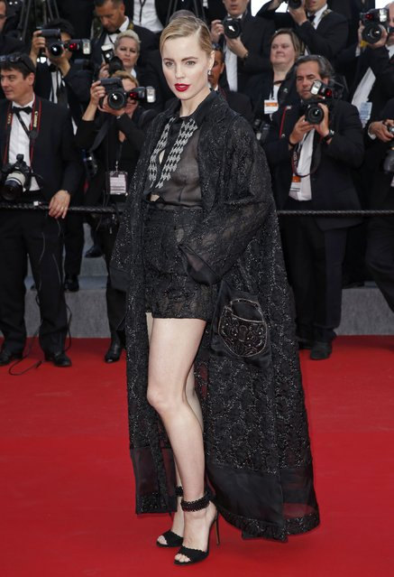 "Actress Melissa George poses on the red carpet as she arrives for the screening of the film ""Irrational Man"" out of competition at the 68th Cannes Film Festival in Cannes, southern France, May 15, 2015. (Photo by Benoit Tessier/Reuters)"