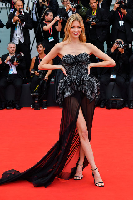 Martha Hunt walks the red carpet ahead of the opening ceremony during the 76th Venice Film Festival at Sala Casino on August 28, 2019 in Venice, Italy. (Photo by Stephane Cardinale – Corbis/Corbis via Getty Images)