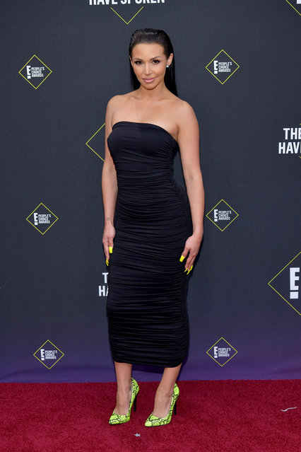 Scheana Shay attends the 2019 E! People's Choice Awards at Barker Hangar on November 10, 2019 in Santa Monica, California. (Photo by Rodin Eckenroth/WireImage)