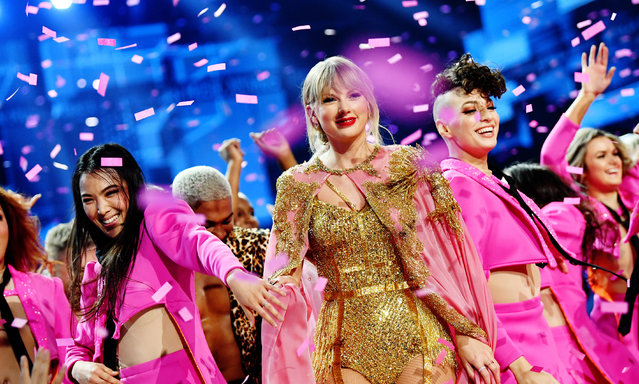 Taylor Swift is seen onstage during the 2019 American Music Awards at Microsoft Theater on November 24, 2019 in Los Angeles, California. Taylor Swift won artist of the year at the American Music Awards. (Photo by Emma McIntyre/AMA2019/Getty Images for dcp)