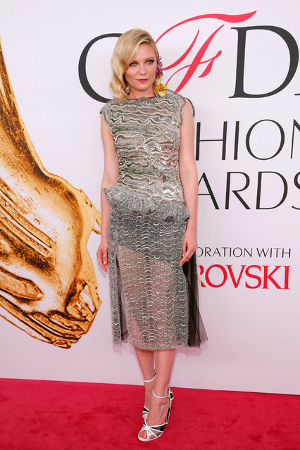 Actress Kirsten Dunst arrives for the 2016 CFDA Fashion Awards in Manhattan, New York, U.S., June 6, 2016. (Photo by Andrew Kelly/Reuters)