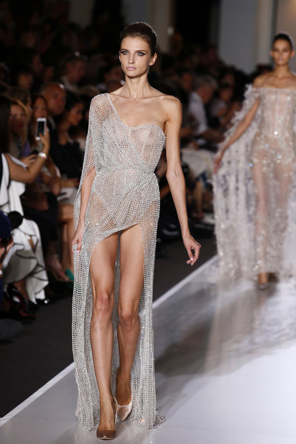 A model wears a creation for Ralph & Russo's Haute Couture Fall-Winter 2017/2018 fashion collection presented Monday, July 3, 2017 in Paris. (Photo by Francois Mori/AP Photo)