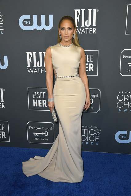 Jennifer Lopez attends the 25th Annual Critics' Choice Awards at Barker Hangar on January 12, 2020 in Santa Monica, California. (Photo by Frazer Harrison/Getty Images)