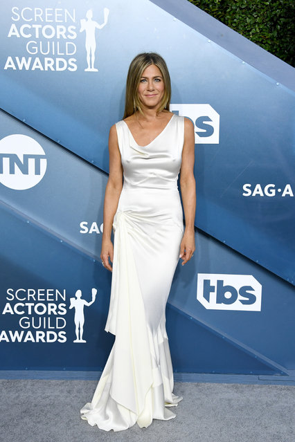 Jennifer Aniston attends the 26th Annual Screen ActorsGuild Awards at The Shrine Auditorium on January 19, 2020 in Los Angeles, California. (Photo by Jon Kopaloff/Getty Images)