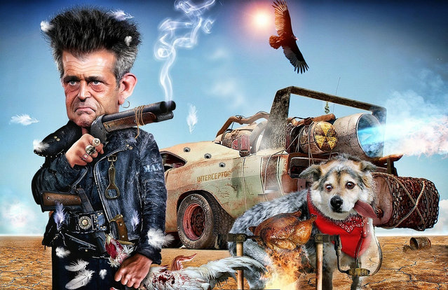MEL GIBSON IN MAD MAX the CHICKENS THIEVE
